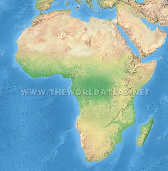World Map Africa